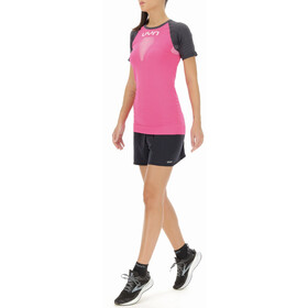 UYN Marathon Shortsleeve Shirt Women, roze/grijs